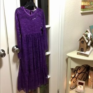 NWT Girls Purple Lace Dress